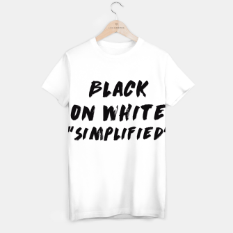Thumbnail image of Black on White T-shirt, Live Heroes