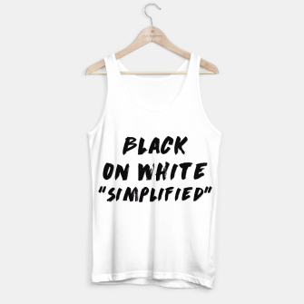 Thumbnail image of Black on White Tank Top, Live Heroes