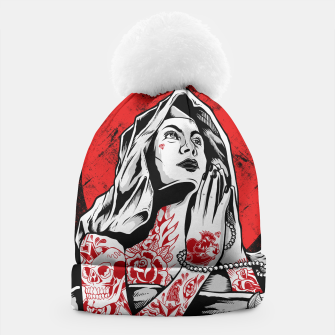 Thumbnail image of VIRGIN MARY PRAYING Tattoo Edition Beanie, Live Heroes