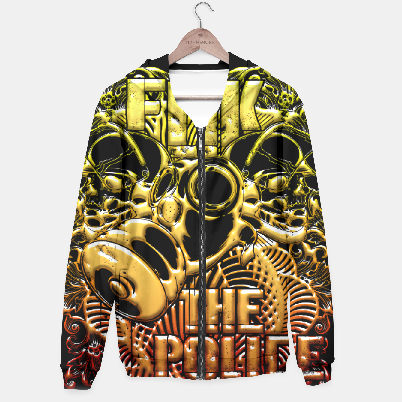 Image of F*ck the Police fire Edition Hoodie - Live Heroes