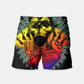 Thumbnail image of WELCOME TO FABULOUS HELL Gold Digger Edition Swim Shorts, Live Heroes