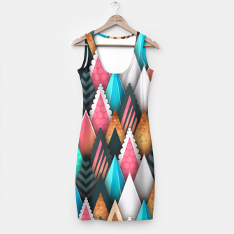Miniatur Crazy Abstract Design Kleid, Live Heroes