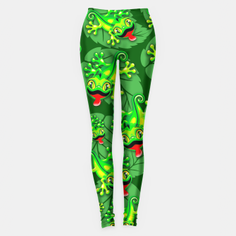 Thumbnail image of Gecko Lizard Baby Cartoon  Leggings, Live Heroes