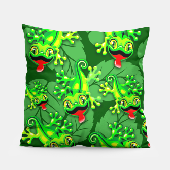 Thumbnail image of Gecko Lizard Baby Cartoon  Pillow, Live Heroes
