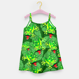 Thumbnail image of Gecko Lizard Baby Cartoon  Girl's Dress, Live Heroes