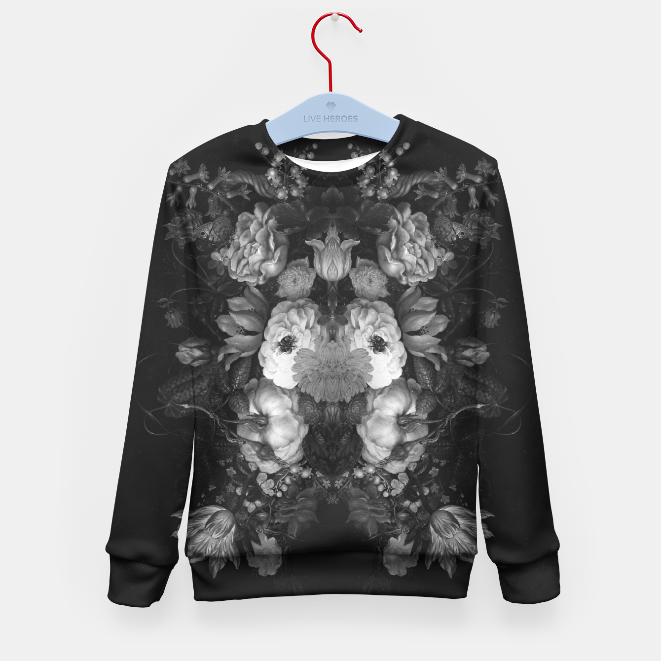 Image of Botanical Darkness Kid's Sweater - Live Heroes