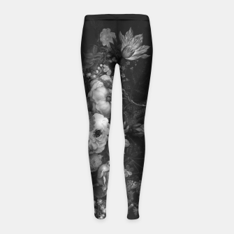 Thumbnail image of Botanical Darkness Girl's Leggings, Live Heroes