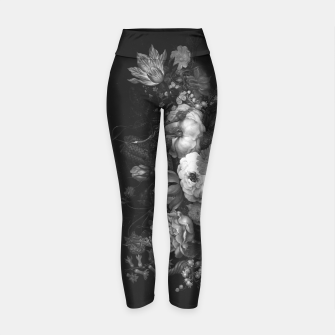 Thumbnail image of Botanical Darkness Yoga Pants, Live Heroes