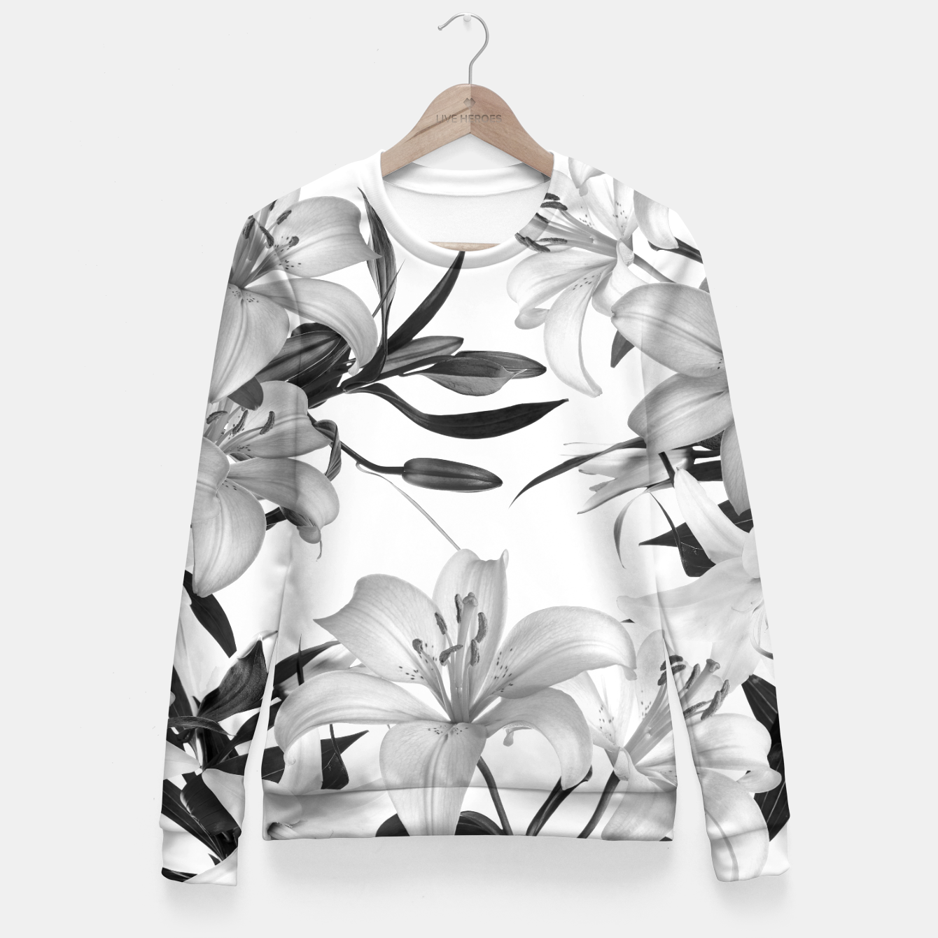 Image of Tropical Lilies Fitted Waist Sweater - Live Heroes