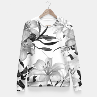 Thumbnail image of Tropical Lilies Fitted Waist Sweater, Live Heroes
