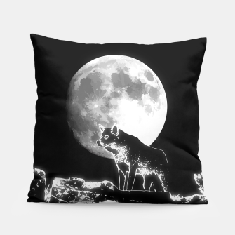 Thumbnail image of Wolf (Saudade) Pillow, Live Heroes