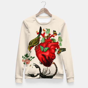 Miniature de image de Heart attack Fitted Waist Sweater, Live Heroes