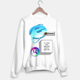 Thumbnail image of windows cyber vaporwave aesthetics Sweater regular, Live Heroes
