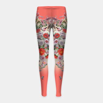 Thumbnail image of Floral Beauty Girl's Leggings, Live Heroes
