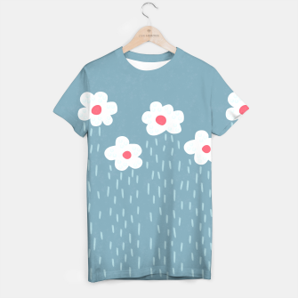 Flowery Rain Clouds T-shirt thumbnail image