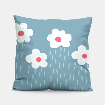 Flowery Rain Clouds Pillow thumbnail image