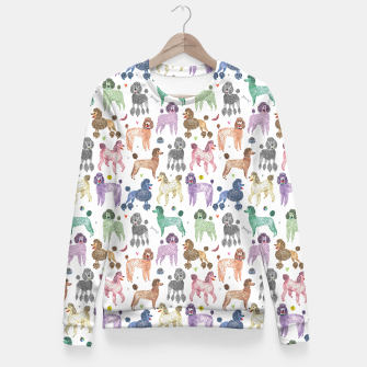 Thumbnail image of Poodles by Veronique de Jong Fitted Waist Sweater, Live Heroes