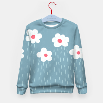 Flowery Rain Clouds Kid's Sweater thumbnail image