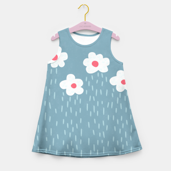Flowery Rain Clouds Girl's Summer Dress thumbnail image