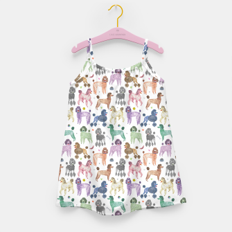 Poodles by Veronique de Jong Girl's Dress thumbnail image