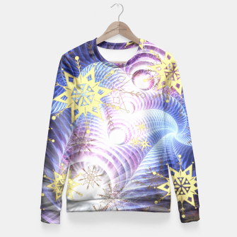 Thumbnail image of Fractal energy bursts Fitted Waist Sweater, Live Heroes