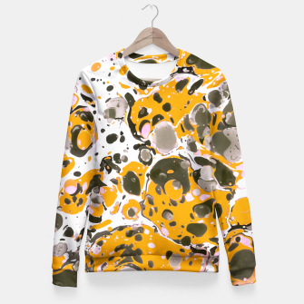 Thumbnail image of Watercolor paint stains Sudadera entallada, Live Heroes