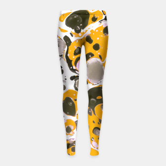 Thumbnail image of Watercolor paint stains Leggings para niña, Live Heroes