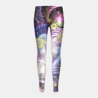 Thumbnail image of Fractal energy bursts Girl's Leggings, Live Heroes