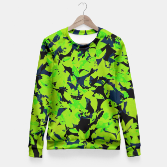 Thumbnail image of Green Jungle Fitted Waist Sweater, Live Heroes