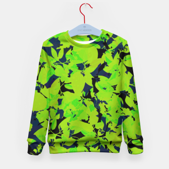 Thumbnail image of Green Jungle Kid's Sweater, Live Heroes