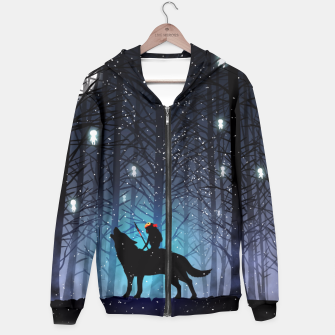 Forest wolf Sudadera con capucha thumbnail image