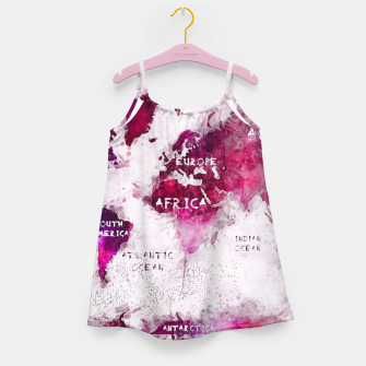 Thumbnail image of world map Girl's Dress, Live Heroes