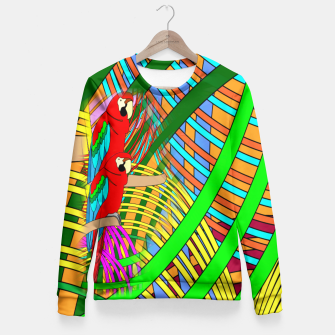 Thumbnail image of Abstract Parrot Fitted Waist Sweater, Live Heroes