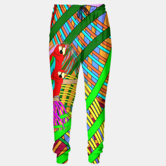 Thumbnail image of Abstract Parrot Sweatpants, Live Heroes