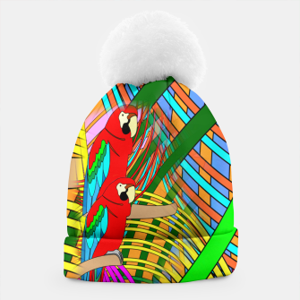 Thumbnail image of Abstract Parrot Beanie, Live Heroes