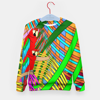 Thumbnail image of Abstract Parrot Kid's Sweater, Live Heroes