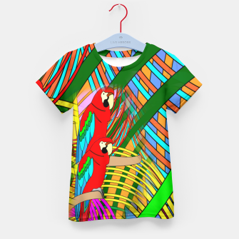Thumbnail image of Abstract Parrot Kid's T-shirt, Live Heroes