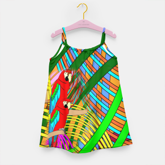Thumbnail image of Abstract Parrot Girl's Dress, Live Heroes