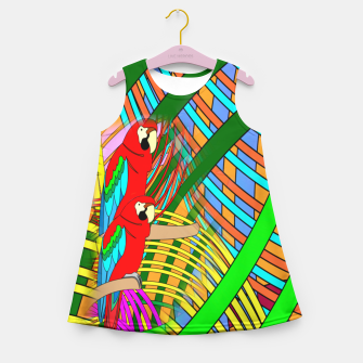Thumbnail image of Abstract Parrot Girl's Summer Dress, Live Heroes