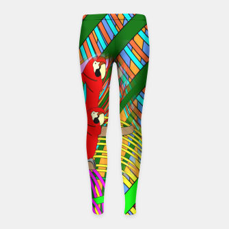 Thumbnail image of Abstract Parrot Girl's Leggings, Live Heroes