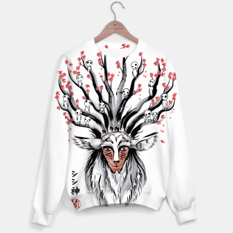 The Deer God sumi-e Sudadera obraz miniatury