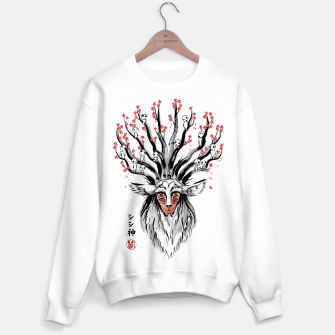 Thumbnail image of The Deer God sumi-e Sudadera Regular, Live Heroes