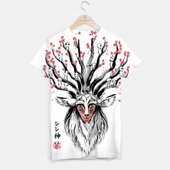 The Deer God sumi-e Camiseta obraz miniatury