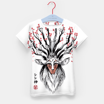 The Deer God sumi-e Camiseta para niños obraz miniatury