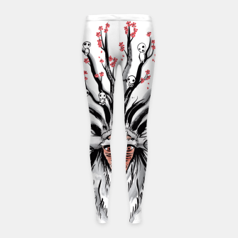 The Deer God sumi-e Leggings para niña obraz miniatury