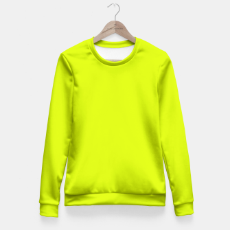 Lime Flat Color Fitted Waist Sweater obraz miniatury