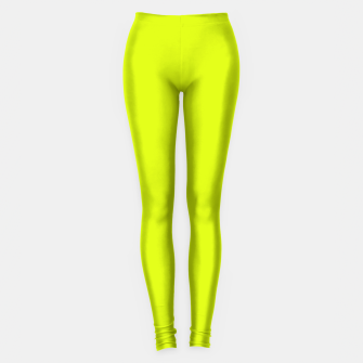 Lime Flat Color Leggings obraz miniatury