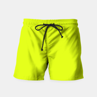 Lime Flat Color Swim Shorts obraz miniatury