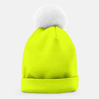 Thumbnail image of Lime Flat Color Beanie, Live Heroes
