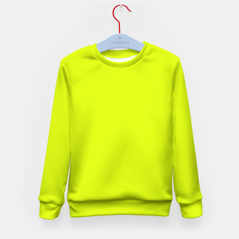 Lime Flat Color Kid's Sweater obraz miniatury